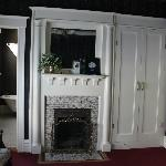 A small fireplace