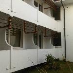 Balcone con terrapieno con facile accesso dall'esterno