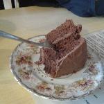 Esempio di fetta di torta sempre al Bloomsbury Café