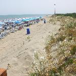 la spiaggia convenzionata con l'Hotel