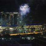 Fireworks in the Harbour and light show at Marina Bay Sands