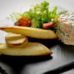 Prawn & Salmon terrine