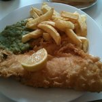 Fish and Chips from the Cafe - (normal sized portion)