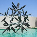Star Flower by James Surls in the Sculpture Garden pond