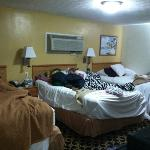 don't mind our mess, I just wanted to show the room size