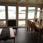 Utsikt fra hytte/sjøbu nr 52