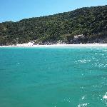 farol beach desde el barco