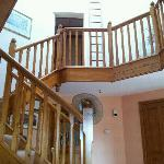 The lovely stair case, the whole building was restored by the owners.