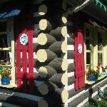 The Bavarian Restaurant is a log cabin built in 1929 with a comfortable biergarten on the side.