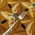 Dirty fork in hallway