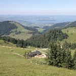Kampenwand Blick in Richtung Chiemsee