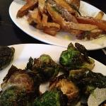 truffle fries and fried brussels sprouts