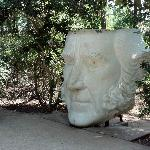 Random head on the grounds at the Sam Houston Statue