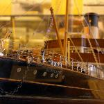 One of many detailed ship models