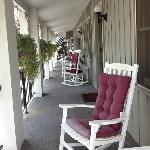 porch overlooking the street