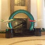 Huge plane models everywhere in the lobby and bar.