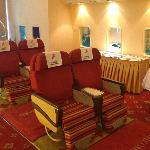 Shenzen Airlines Business class seats in the concierge area