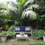 An intimate seating oasis in the garden, many from which to choose