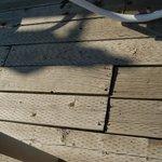 broken sun deck