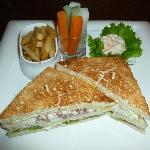 Club sandwich in 'Garden Terrace'