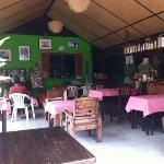 The bar & restaurant & living room & Tony's TV room
