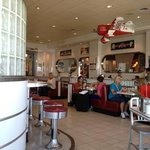 inside Ruby's diner