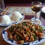 Cashew shrimp-- huge portions