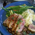Coho cafe - duck with risotto