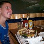 Big, big burger.