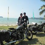 Showing our beautiful motorbikes