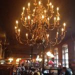 Beautiful old chandelier!