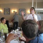 The chef explaining the degustation