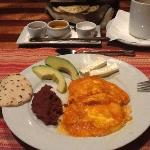 Honduras breakfast! feast to your taste buds!