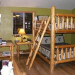 Ladder to the upper bunk