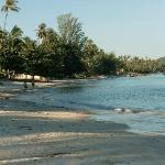 la spiaggia vicino all'hotel