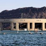 This is Parker Dam, one of the many electric power generating plants along the Colorado River. U