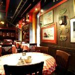 Chicago Railway era themed restaurant area