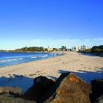 Forster beach from breakwater