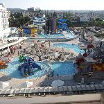 Waterpark view from balcony