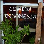 The real Indonesian dishes are served here