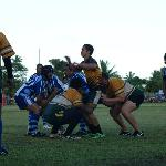 Tom playing rugby for Amuri