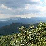 View of Mt. Tremper and the Southern Catskill peaks from Overlook Mountain.
