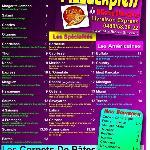 notre carte de pizza