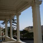 Columnas en la terraza