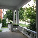 Front porch of the Porter Mansion looking toward Inn