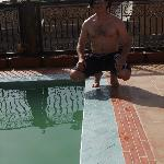 By the plunge pool