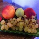 coupe de fruits à l'arrivée à l'hôtel