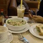 White Choco Mocha, Butterscotch Vanilla, Tuna Melt, Grilled Chicken Salad
