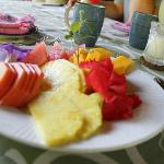 delicious breakfast...amazing fresh fruit