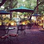 Front courtyard dining at Grunts, Key West FL
